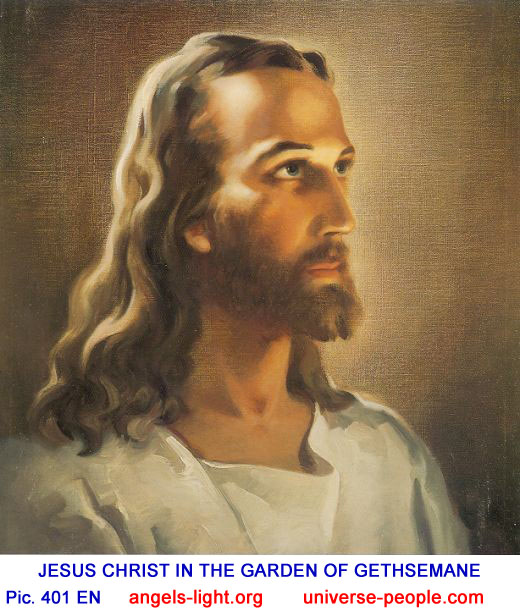 jesus christ heaven person universe painting angels gethsemane garden portraits english lord portrait saw
